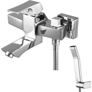 Смеситель для ванны Lemark Unit с фиксиром изливом 107 мм с аксессуарами (LM4514C) смеситель для ванны lemark unit lm4545c