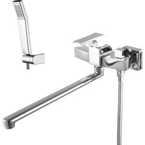 Смеситель для ванны Lemark Unit  изливом 350 мм  аксессуарами (LM4517C)