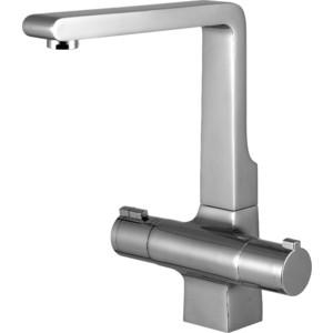 Термостат для кухни Lemark Yeti Термоэлемент с фиксатором, высокий излив (LM7835C) смеситель для кухни lemark expert с вытяжным изливом lm5075s