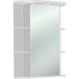 Зеркальный шкаф Акватон Кристалл сменные элементы белые в комплекте левый (1A000102KS01L) зеркальный шкаф акватон эмили 105 левый 1a008602em01l