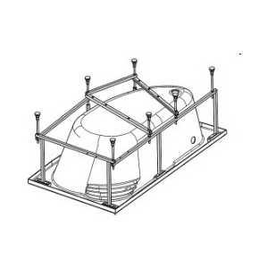 Монтажный комплект Santek для ванны ибица 150х100 см (WH112433)