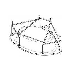Монтажный комплект Santek Канны 150х150 см (1WH112432) монтажный комплект santek монако 170х70 см 1wh112421