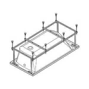 Монтажный комплект Santek для ванны монако 170х70 см (WH112421)
