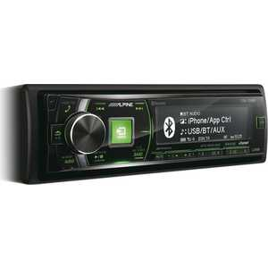 Автомагнитола Alpine CDE-178BT автомагнитола kenwood kdc 300uv usb mp3 cd fm rds 1din 4х50вт черный