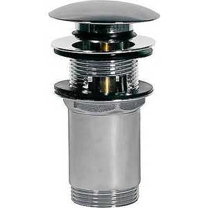 Донный клапан Tres click-clack с переливом d 66мм хром (13454160)