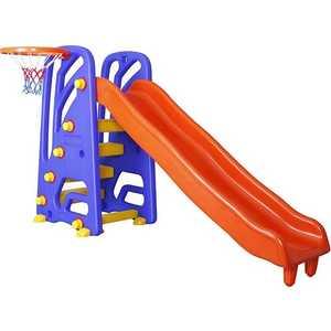 Детская горка Pilsan 172х91х105см с баскетбольным кольцом 6142