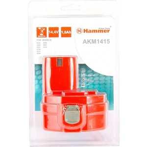 Аккумулятор Hammer AKM1415 14.4В 1.5Ач фрезер hammer frz1200b