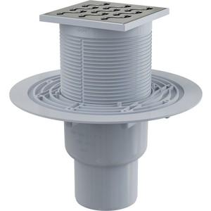 Душевой трап AlcaPlast 105х105/50/75 подводка прямая, гидрозатвор мокрый (APV202)