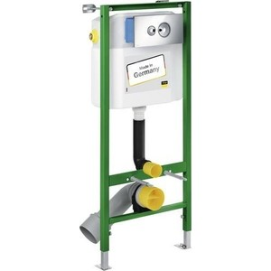 Инсталляция Viega Eco standard set 3 в 1 606688 с кнопкой 596323 с уголками (713386) viega 4936 3 с сухим отводом вертиткальный отвод 583224