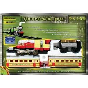 Железная дорога Bondibon Восточный экспресс в наборе, 3800 мм эллипс, 16деталей с дымом (0615)