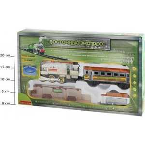 Железная дорога Bondibon ''Восточный экспресс'' в наборе 12 pcs ,озвуч., подсветка, дым, серебр. локомот