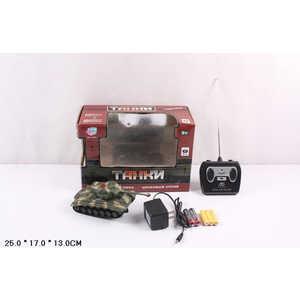 Танк Joy Toy на радиоуправлении 9554B машина на радиоуправлении безумные гонки 4х4 joy toy аккумулятор адаптер стреляет снарядами 36 35
