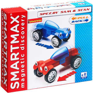 Bondibon Магнитный конструктор SmartMax/Bondibon Специальный (Special) набор: Гонщики Сэм и Стэн 207