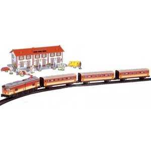 Железная дорога Pequetren металлическая (4,4 м, круг), 1 локом, 3ваг, тоннель, светофор, стрел. перевод 516