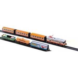 Железная дорога Pequetren металлическая (4,4 м, эллипс),1 локомотив, 3 пас.вагона, 3 груз.вагона 900