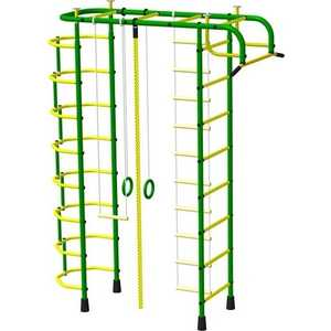 Детский спортивный комплекс Пионер 2М (зеленый/желтый)