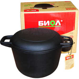 Кастрюля с крышкой-сковородой Биол 3 л 0203 кастрюля с крышкой сковородой биол 6 л 0206