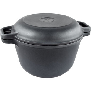 Казан с крышкой-сковородой Нева-Металл 7 л 9870