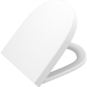 Vitra Сиденье с микролифтом Vitra Sento белый (86-003-009) унитаз подвесной vitra sento безободковый укороченный 49 5 см без сидения 7747b003 0075