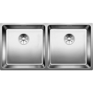 Мойка кухонная Blanco Andano 400/400-U без клапана-автомата (522987/518325) мойка кухонная blanco andano 450 u нерж сталь зеркальная полировка без клапана автомата 522963 519373