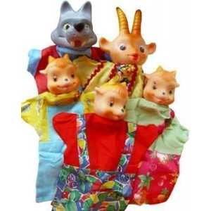 Русский стиль Кукольный театр Козлята и волк 11090 русский стиль набор кукольный театр три поросенка 4 персонажа в маленькой коробке 11255н