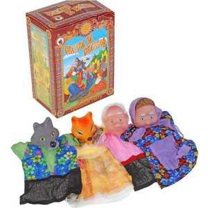 Русский стиль Кукольный театр Волк и лиса 11250 русский стиль набор кукольный театр три поросенка 4 персонажа в маленькой коробке 11255н