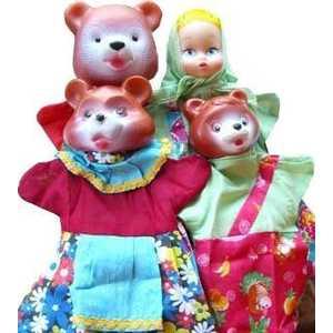 Русский стиль Кукольный театр Три медведя 11254 русский стиль набор кукольный театр три поросенка 4 персонажа в маленькой коробке 11255н