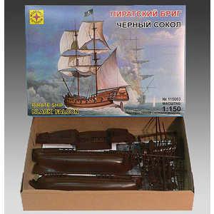 Моделист Модель Пиратский бриг Черный сокол, 1:150 115003 бриг бриг м 15 с барометр