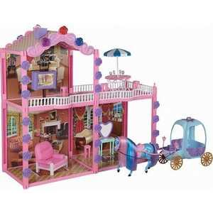 Дом Shantou Gepai для куклы 29 см с каретой 2101 лошадка simba с каретой 4410389