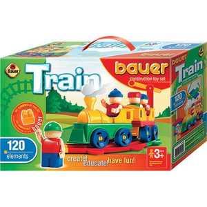 Bauer Конструктор Железная дорога 120 элементов 254 конструктор железная дорога 95 деталей