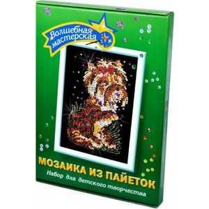 Мозаика Волшебная мастерская Терьер из пайеток 32 волшебная мастерская мозаика из пайеток 3d мишка