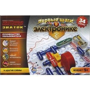 Электронный конструктор ЗНАТОК Знаток, набор С, 34 схемы 34C-Znat