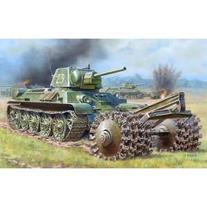 Звезда Модель Танк Т -34/76 с минным тралом 3580