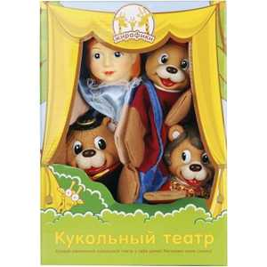 Жирафики Кукольный театр Три медведя, 4 куклы 68315 airis press настольная игра волшебный театр колобок три медведя