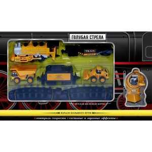 Железная дорога Голубая стрела ''Голубая стрела'' со строительной техникой 87185