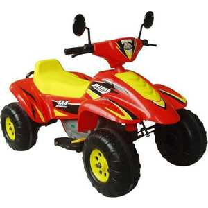 Электроквадроцикл Пламенный мотор ''Бич Рейсер'' (красный/желтый) CT-558 RY