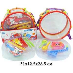 Shantou Gepai Набор музыкальных инструментов в барабане, 8 предметов 826-08 B музыкальные игрушки meinl маракасы деревянные nino7pd b