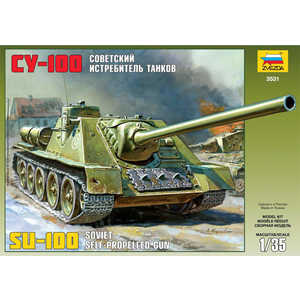 Сборная модель Звезда Советский истребитель танков СУ-100 3531 металлические модели танков купить китай