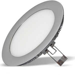 Встраиваемый светодиодный ультратонкий светильник Estares DL-11 Silver тёплый белый