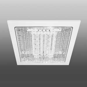 Встраиваемый светильник с прозрачным рассеивателем Estares R-136 Clear теплый белый