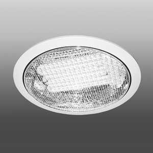 Встраиваемый светильник с прозрачным рассеивателем Estares R-236 Clear теплый белый