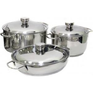Набор посуды Амет Классика-Прима из 6-ти предметов 1с1001 кастрюля nova tour инферно 1 4л цвет металлик красный 0 4л