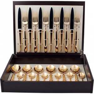 Набор столовых приборов Cutipol Carre gold из 24-х предметов 9131
