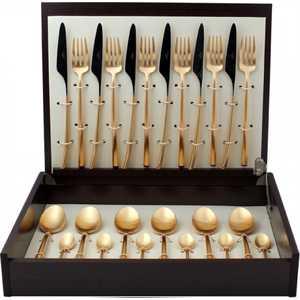 Набор столовых приборов Cutipol Mezzo gold из 24-х предметов 9302