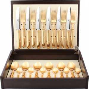 Набор столовых приборов Cutipol Mithos gold из 24-х предметов 9152