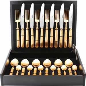 Набор столовых приборов Cutipol Piccadilly gold из 24-х предметов 9142