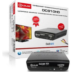 Тюнер DVB-T2 D-Color DC910HD тв приставка d color dc910hd