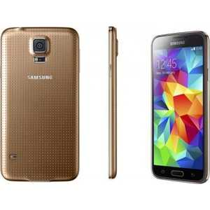 Смартфон Samsung Galaxy S5 mini SM-G800F 16Gb Gold аксессуар чехол samsung sm g800 galaxy s5 mini gecko white