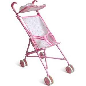 1Toy Коляска для кукол розовая Т52256
