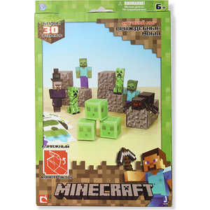 Minecraft Конструктор из бумаги ''Враждебные мобы'', 30 дет Т57237